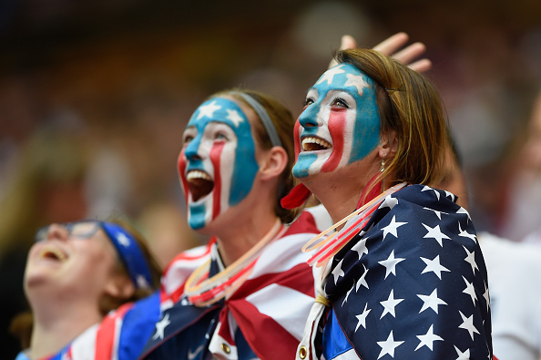 during FIFA Women's World Cup 2015 Final between USA and Japan at BC Place Stadium on July 5, 2015 in Vancouver, Canada.
