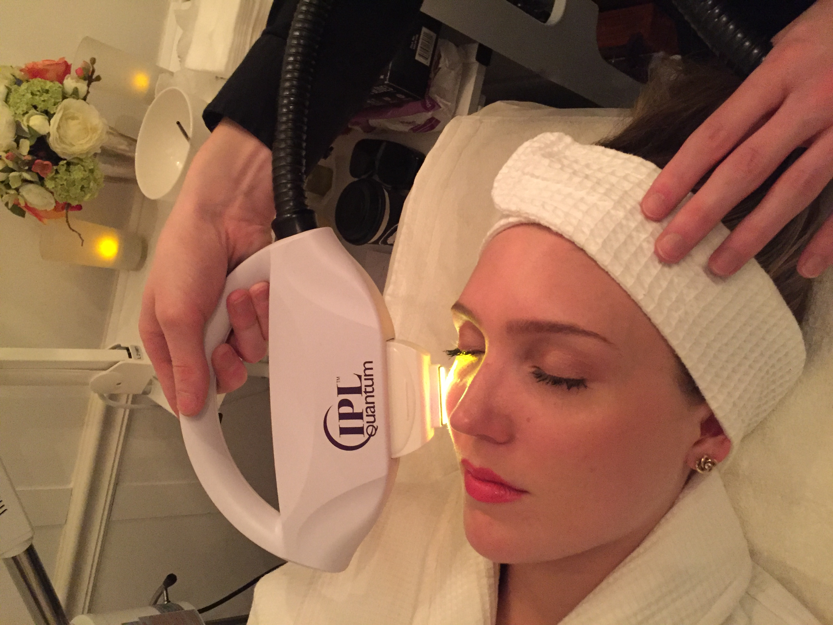 Vanquishing sun damage with IPL at Skin Bar NYC.